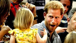 Download Prince Harry's popcorn swiped by toddler Video