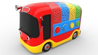 Download Colors for Children to Learn with Bus Transporter Toy Color Balls - Educational Videos Video