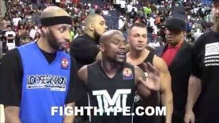 Download FLOYD MAYWEATHER VS. ADRIEN BRONER HEAD-TO-HEAD ON THE BASKETBALL COURT POST-CALLOUT Video