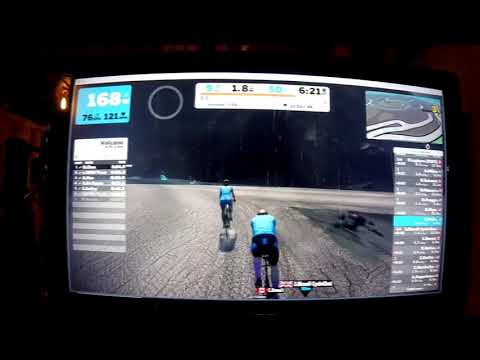 Zwift Cycling 10 Volcano Laps and Zwift App Feb 4