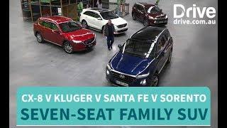 Download 2018 Mazda CX-8 v Hyundai Santa Fe v Toyota Kluger v Kia Sorento   Comparison Test Video