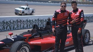 Download 200mph In The Honda Two-Seater Indy Car Video