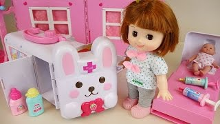 Download Baby doll Rabbit ambulance Hospital toys play with Pororo Video