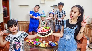 Download Kids Go To School | Day Birthday Of Chuns Children Make a Birthday Cake Color Rainbow Video