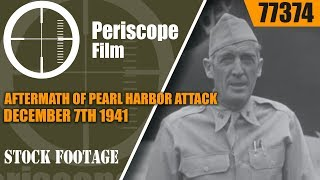 Download AFTERMATH OF PEARL HARBOR ATTACK DECEMBER 7th 1941 77374 Video