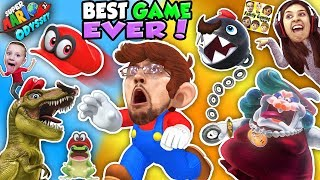 Download SUPER MARIO ODYSSEY 💗 FGTEEV! DINOSAURS, FROGS & CHOMP CHAINS R BOSS! BEST VIDEO GAME EVER! (Pt. 1) Video