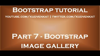 Download Bootstrap image gallery Video