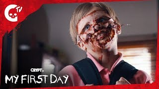 Download My First Day | Funny Short Horror Film | Crypt TV Video