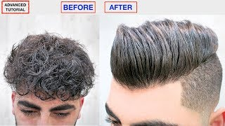 Download HAIR STRAIGHTENING KERATIN★MEN'S HAIRSTYLE★DRY, FRIZZY, CURLY TO STRAIGHT HAIR, HAIR STYLE VIRAL ✔️ Video