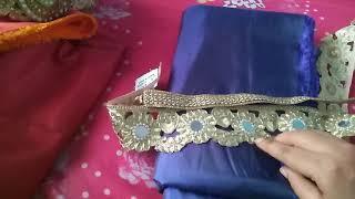Download How to turn plain fabrics into designer saree Video