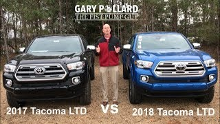 Download 2017 Toyota Tacoma Limited vs 2018 Tacoma Limited with Gary Pollard The Fist Pump Guy Video
