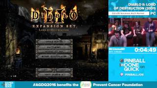 Download Diablo II by MrLlamaSC in 1:47:05 - Awesome Games Done Quick 2016 - Part 128 Video