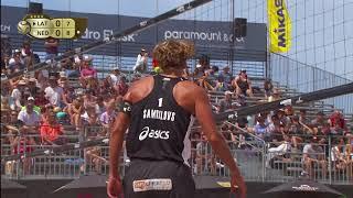 Download 2018 FIVB Huntington Beach Open: Samoilovs/Smedins vs Brouwer/Meeuwsen - Men's Semifinal Match Video