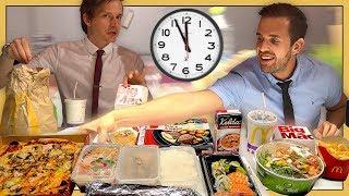Download Hur mycket mat hinner man äta på en lunchrast? Video