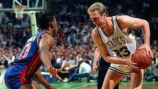 Download Larry Bird vs Detroit Pistons 1987 Game 5 (Bird Steals it!) Video