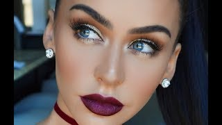 Download FALL MAKEUP: GOLD EYES & BERRY LIPS | Carli Bybel Video