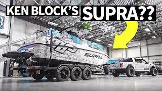 Download Ken Block's Raptor Powered... Supra?? Plus, Indoor Burnout! Video