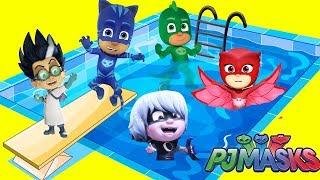 Download PJ Masks Swimming Pool Adventure with Catboy Owlette Gekko Video