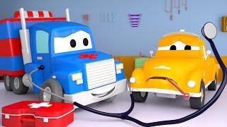 Download Super Truck - द एम्बुलेंस - Car city 🚗Cartoon in Hindi - Truck Cartoons for Kids Video
