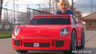 Download Power Wheels Porsche 911 GT3 - Unboxing, Assembly, and Riding! | Gabe and Garrett Video