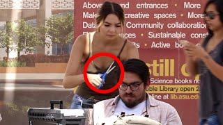 Download Pretending To Cut Stranger's Hair Prank!! Video