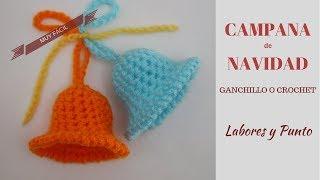 Download Como tejer una Campana de Navidad a ganchillo o crochet- Labores y Punto Video