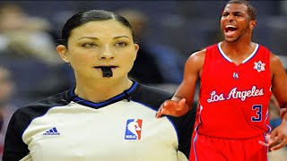 Download female referee Lauren Holtkamp vs the Clippers Chris Paul Video