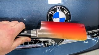 Download EXPERIMENT Glowing 1000 degree KNIFE VS BMW M5 Video