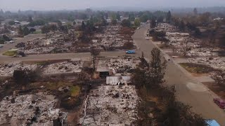 Download Drone video shows heartbreaking devastation of the Carr fire near Redding Video