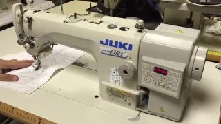 Download JUKI DDL-900A-S piqueuse plate coupe fil Video