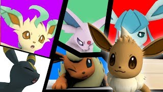 Download Eevee's new family - 3D animation Video