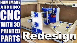 Download Homemade CNC with 3D Printed Parts - Redesign Video