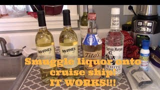 Download SMUGGLE HARD LIQUOR ONTO CRUISE SHIP!!! IT WORKED$$$$$ Video