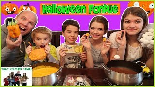 Download HALLOWEEN Chocolate and Cheese FONDUE FOOD CHALLENGE!! / That YouTub3 Family Video