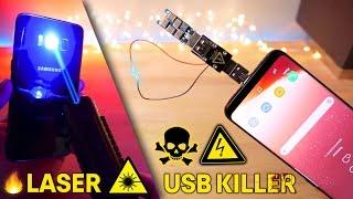 Download USB Killer 3.0 & Burning Laser vs Samsung Galaxy S8! Instant Death? Video