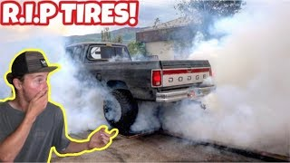 Download CUMMINS DESTROYS TIRES FROM CRAZY BURNOUT! Video
