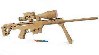 Download How To Make Cardboard Sniper That Sh00ts - With Magazine Video