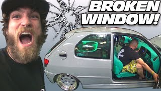 Download British Guy BREAKS Window IN MY FACE... Extreme Car Audio SUBWOOFER Bass System Breaking Glass! Video
