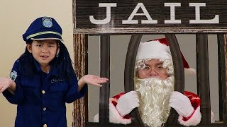 Download Jannie Pretend Play w/ Santa Clause Giving Christmas Presents & Getting Locked Up in Jail Video