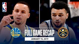 Download Full Game Recap: Warriors vs Nuggets   Curry, Thompson, & Durant Combine For 89 Video