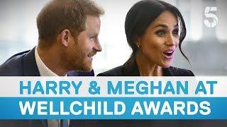 Download Prince Harry and Meghan Markle meet inspirational Wellchild Award winners - 5 News Video