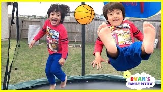 Download Kids First Time Surprise Giant Trampoline Family Fun Playtime with Ryan's Family review! Video