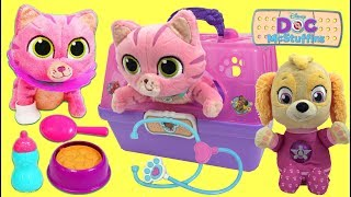 Download Paw Patrol Skye Gets a Doc Mcstuffins Toy Hospital On the Go Pet Carrier Kitten Playset Video
