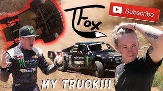 Download Tanner Fox Broke My Race Truck!! Worlds Craziest Truck Jump! Video