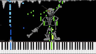 Download Undertale AU - DISBELIEF (Papyrus's Genocide Route Theme) | LyricWulf Piano Tutorial on Synthesia Video