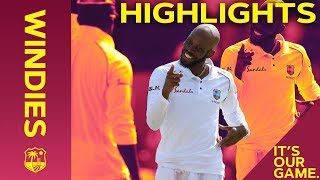 Download Roston Chase Wraps Up Huge Win | Windies vs England 1st Test Day 4 2019 - Highlights Video