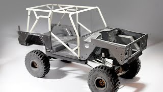 Download Building styrene frame / cage guard for RC crawler Video