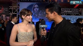 Download 'Rogue One' Premiere: Felicity Jones Reveals Her Initial Reaction to Darth Vader Video