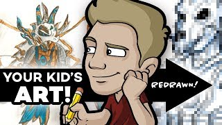 Download YOUR KID'S ART Drawn by a PROFESSIONAL ARTIST! Video