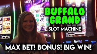 Download BIG WIN! BONUS! Buffalo Grand Slot Machine! MAX BET! Video